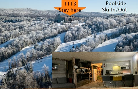 #1113 Renovated Ski in/out,  pool view, slps 6