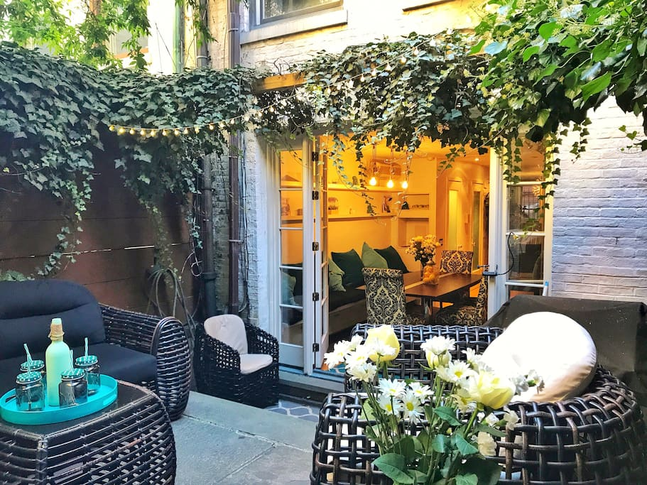 Your nyc dream house in west village with garden for Townhouse for rent nyc