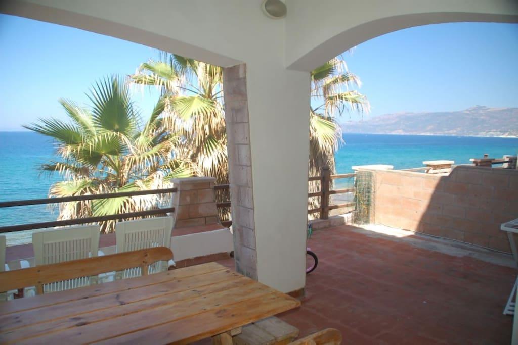 waterfront veranda