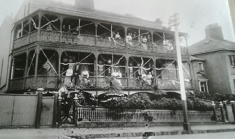A photo of our property taken in approx. 1900. Our aim is to restore it to its former glory!