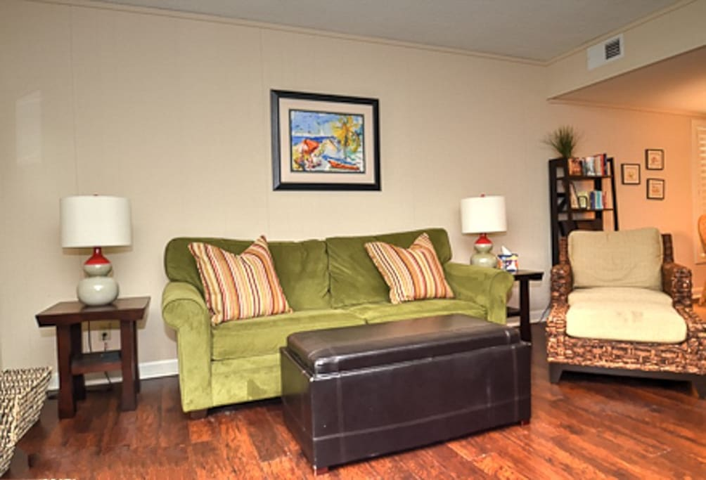 The living area is very inviting, plenty of comfortable seating.