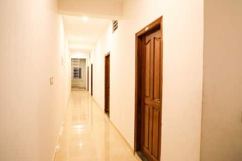 We provide simple rooms for staying along NH road