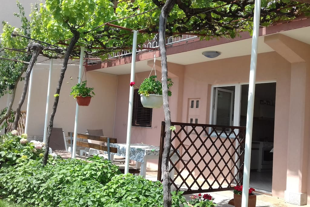 Terrace with entrance to the apartment
