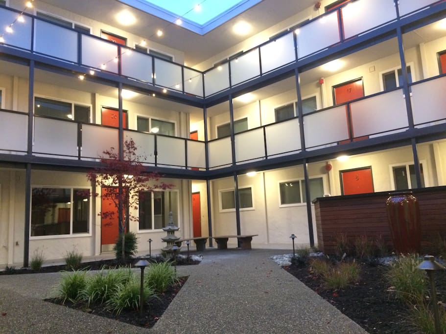 Newly renovated courtyard, completed 9/2016