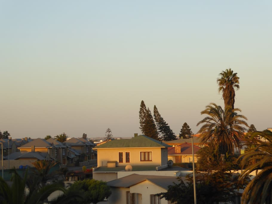 View over the East of Swakopmund from the balcony