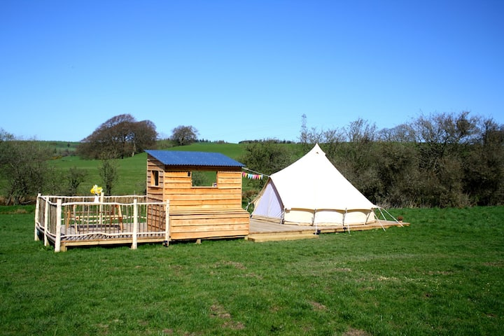 Liberty - Luxury bell tent on Iron Age hill fort