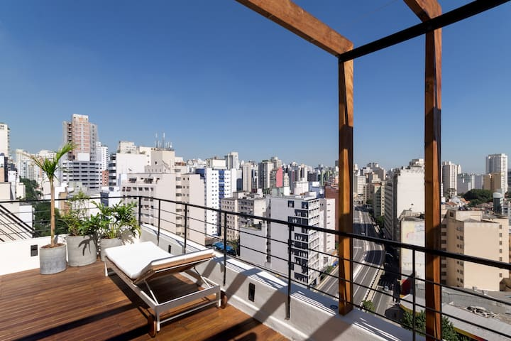 Superbe appartement en rooftop - 125m2 de terrasse