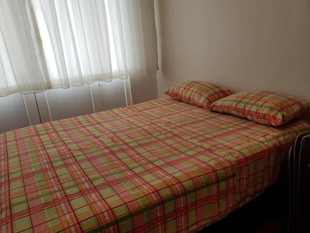 Bedroom, 1 big bed, wardrobe.