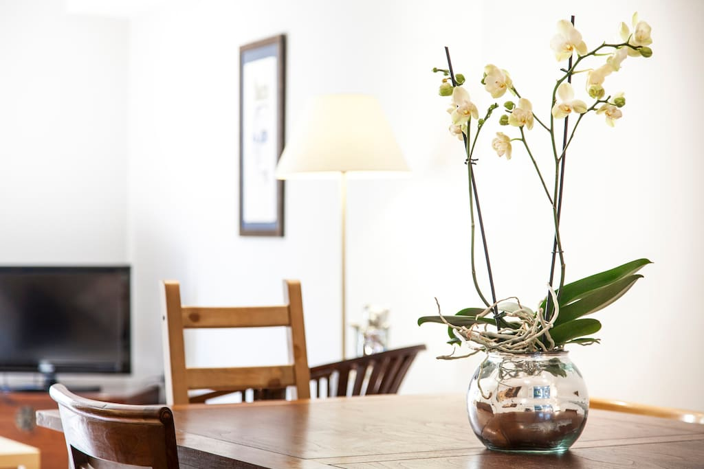 dinning room with Fresh orchid
