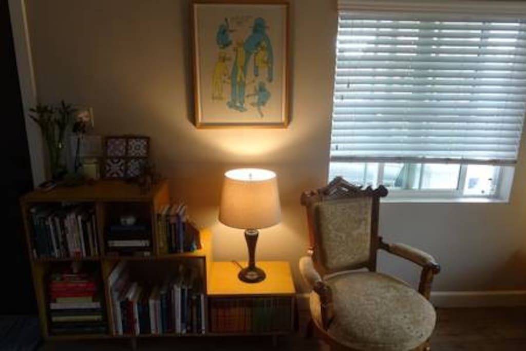 Bookcase in living room.
