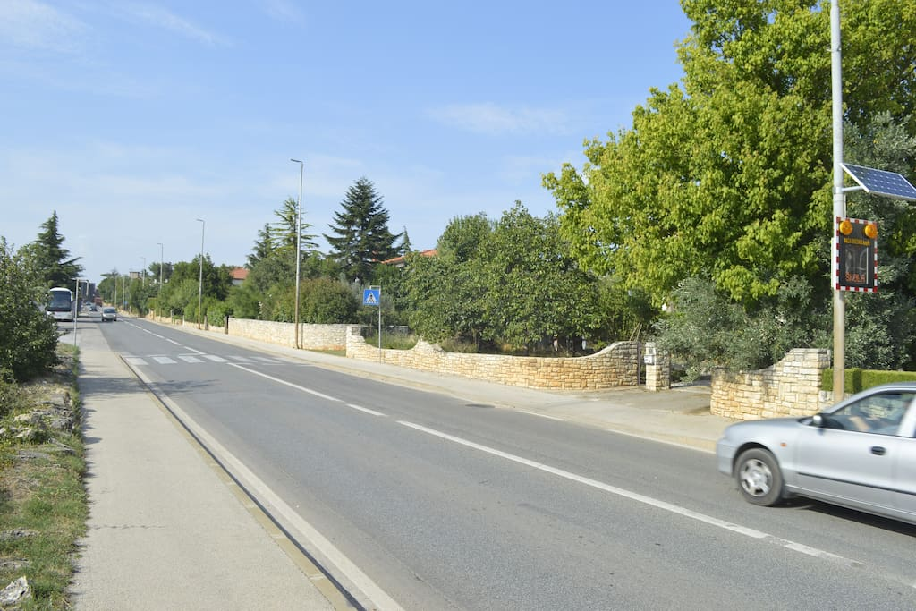 road in front of the house