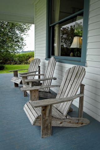 Sit on the front porch and watch the sunset over Ebey's Landing.