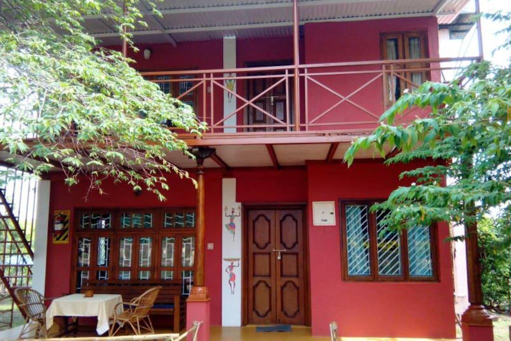 duplex room exterior