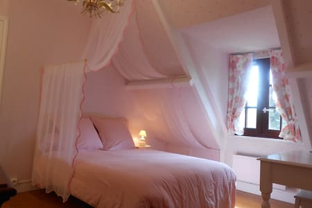 CHAMBRE ROSE / B&B CLOSE GIVERNY - Giverny - STE GENEVIEVE LES GASNY -