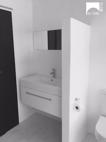 Bathroom and Toilet.