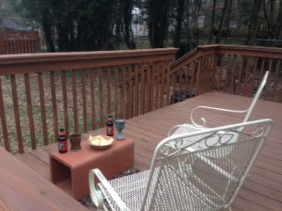 When you're done for the day, kick back on the deck out back . . .