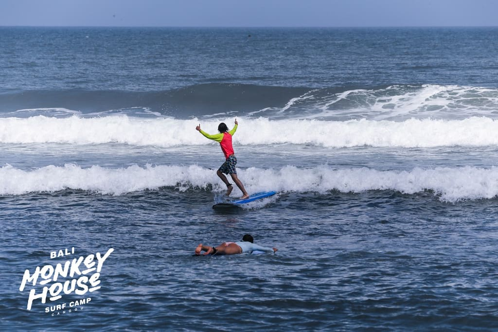 Surf Lesson - Bali Monkey House_Surf Camp, Canggu