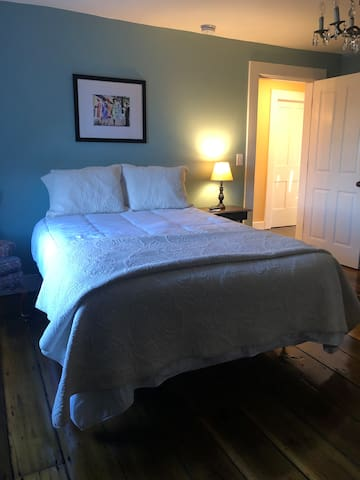 North bedroom with a pillow top queen bed and Roku TV!
