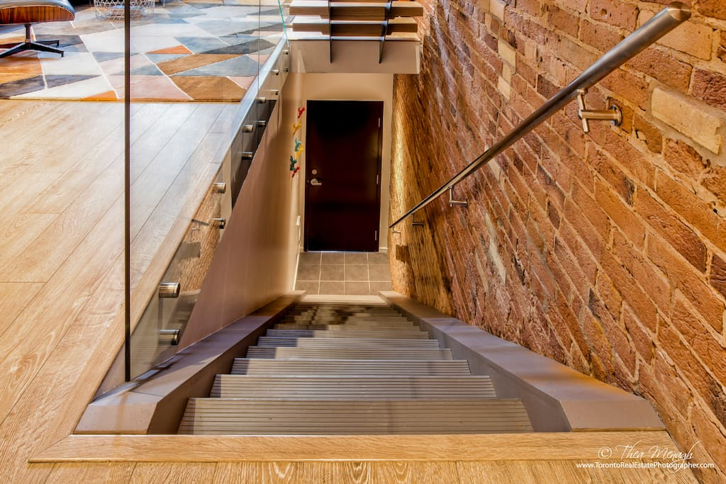 Staircase up to the loft