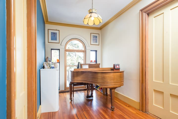 Lots of natural light if you want to play the piano in the daytime - but you're also welcome to play in the evening!