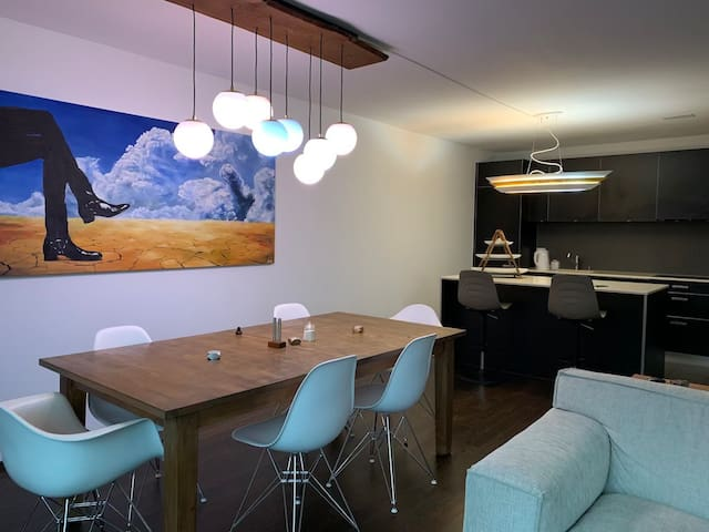 Private room in a creative space.