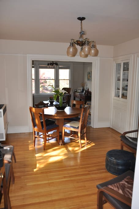 The sunny dining room area.