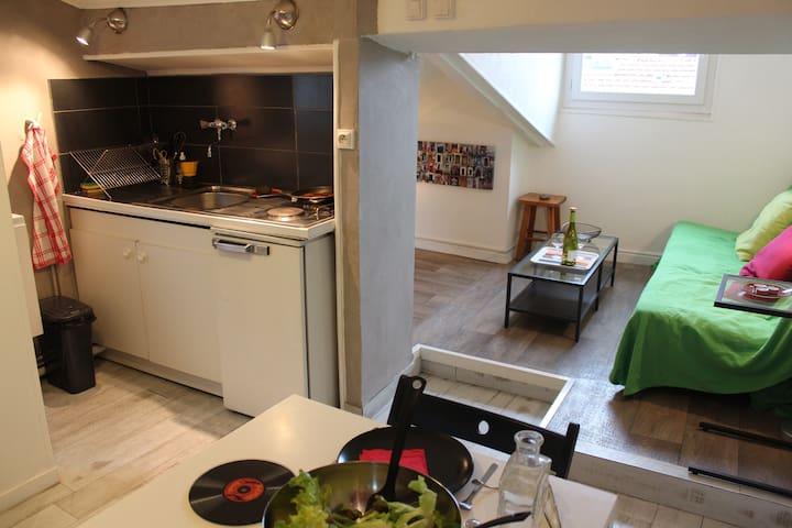 Charmant studio coeur de ville & vue montagnes ! - Grenoble - Apartment