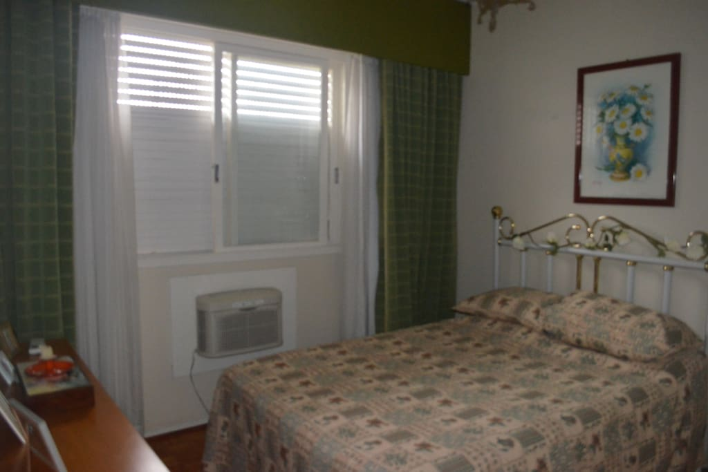 Guest bedroom with large closet and clothes chest