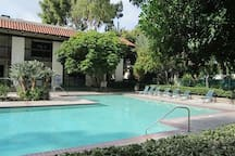 big poolinclude lush grounds, good size pool and spa, tennis courts,