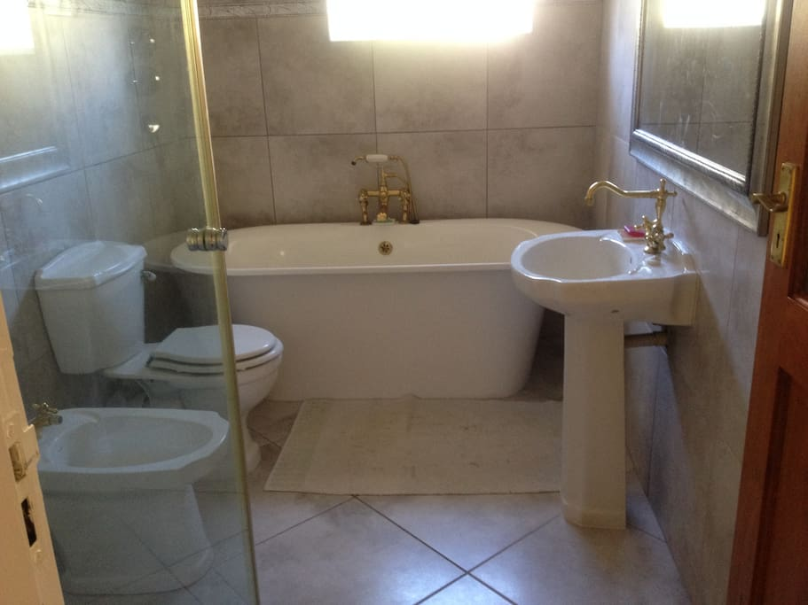 Communal bathroom for upstairs guests