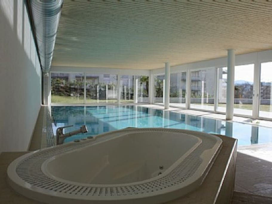 Apartment indoor pool and gardens apartments for rent for Private indoor swimming pools