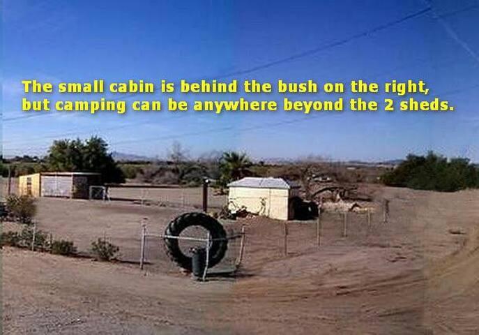 Rustic Cabin/Dry Camp near Colorado River, Desert.