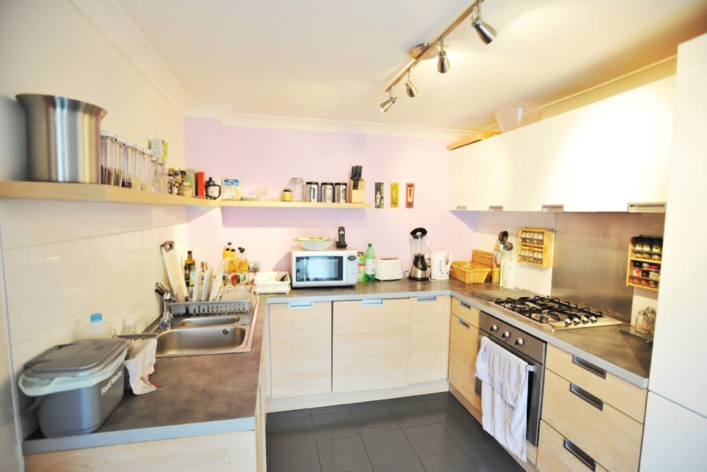 Kitchen with wide lens
