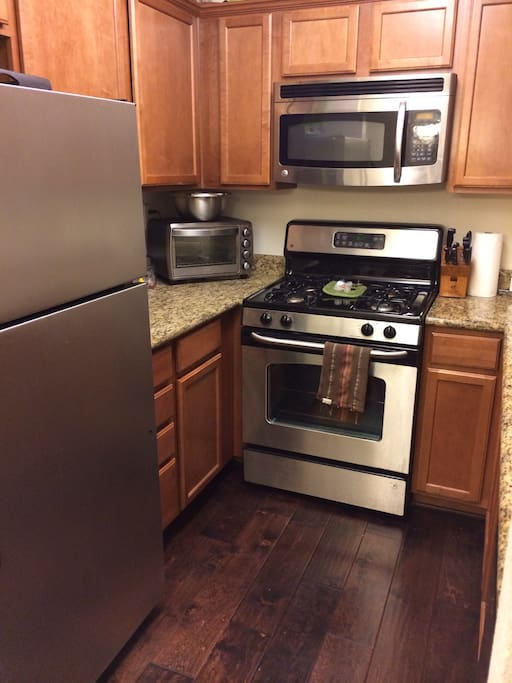 Stainless Appliances, with granite counter tops