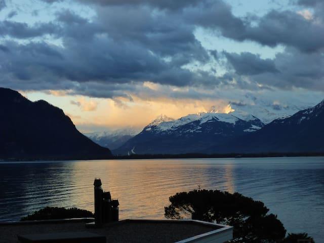 Superbe studio au bord du lac Leman - Montreux - Byt