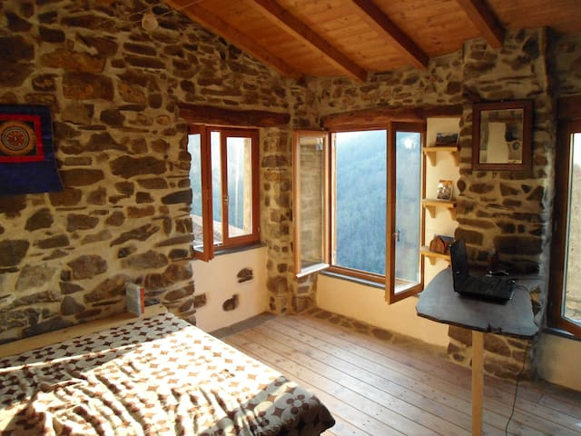 Cosy sunny cottage, hilltop village - Apricale - House