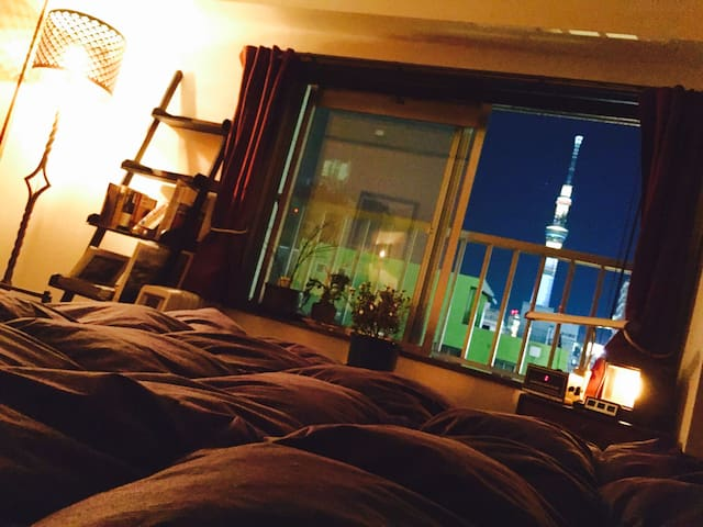 Asakusa Retro Apartment with Sky Tree View - Taitō-ku - Квартира