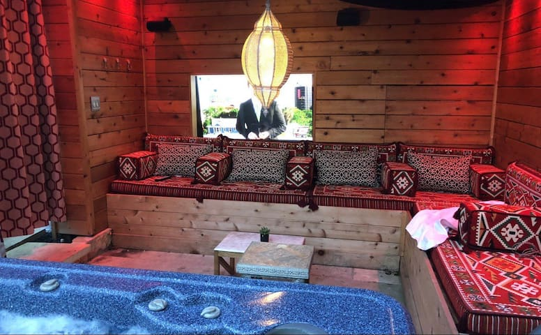 Pleasure pit retreat with hot tub and $30k showers