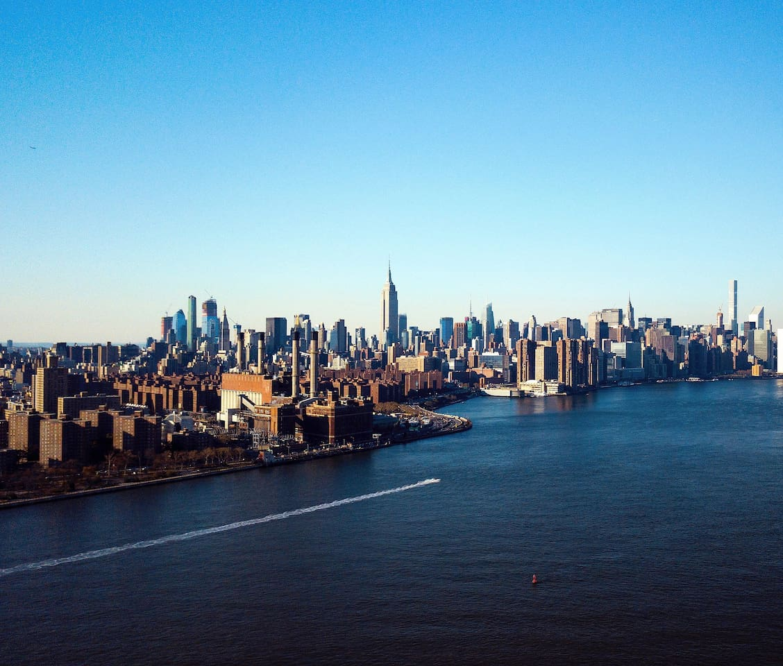 Awesome view of the city from Brooklyn, shot with my drone!