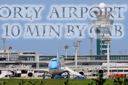 ORLY Airport, DGAC, ADP, Guyards, PARIS par RER C - Apartment