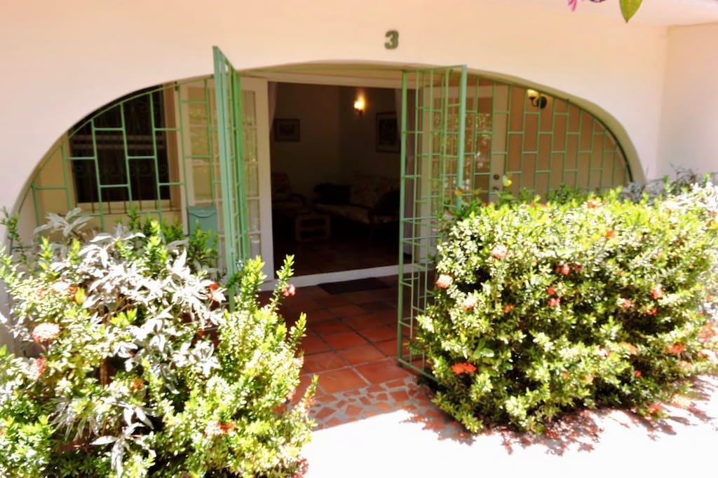 Entrance and verandah