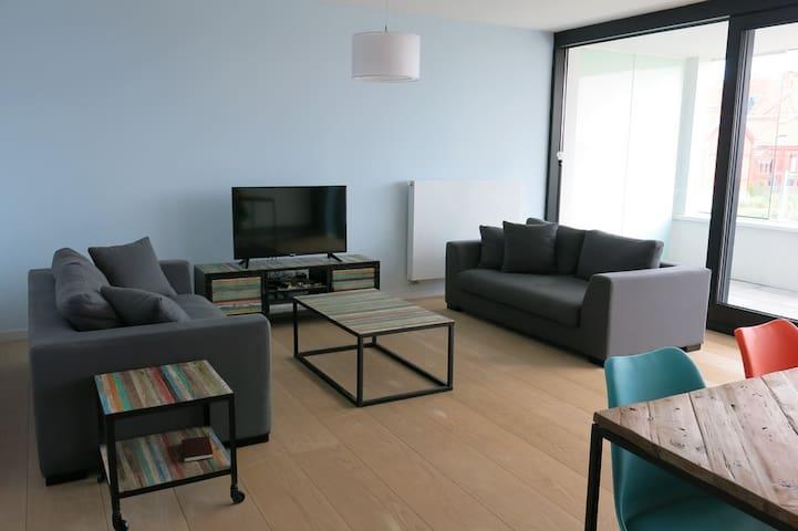 2 bedroom flat Ostende Bredene beach access - Oostende - Leilighet