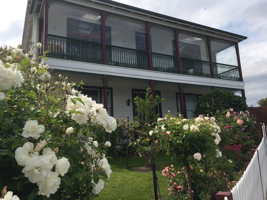 Beautiful Rycot House You will stay in the bottom left bedroom, and have full access to the downstairs verandah.