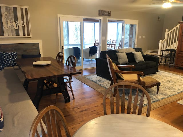 Beautiful open floor plan with many private areas for all types of people in your group.