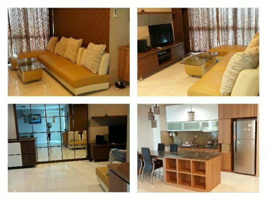 Living room, Dining room, & Kitchen
