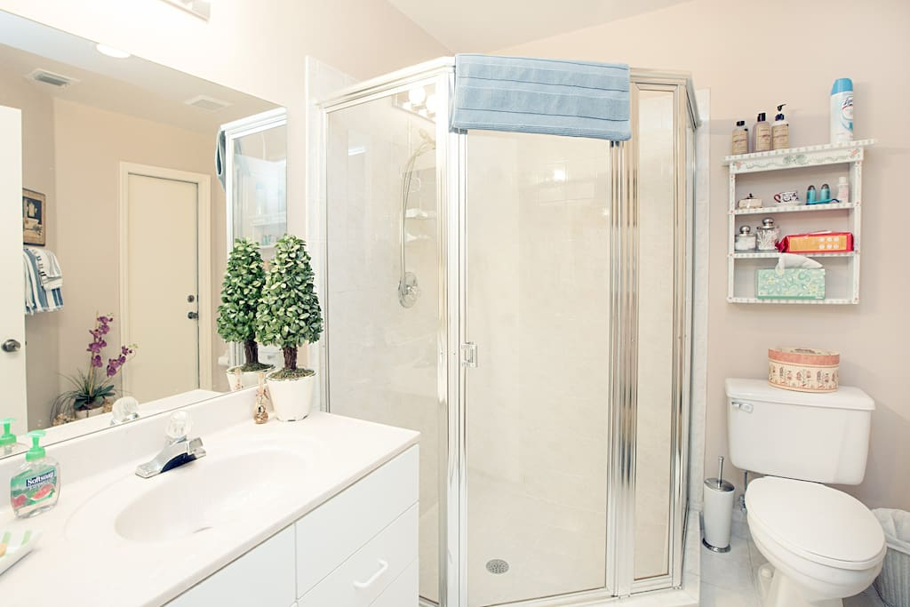 Your Private Bathroom just outside of your room