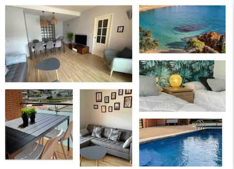 Fenals Beach&Chic🐚, TOP apartment, pk, pool