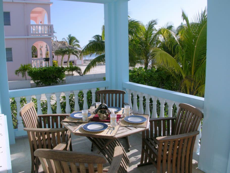 Breakfast is ready on your ground level porch!
