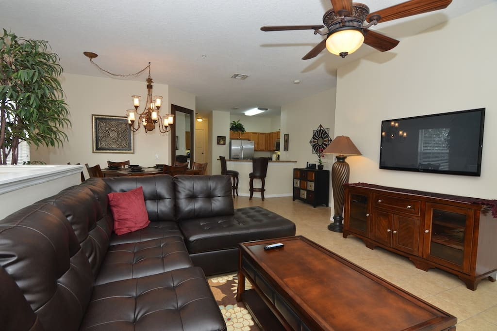Spacious Living Room with Large Sectional