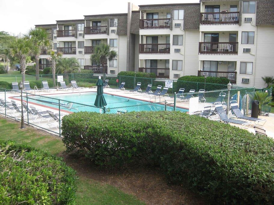 Pool between A&B buildings